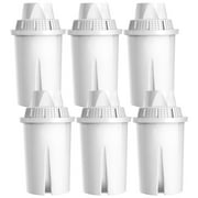 6 Pack AQUACREST Water Filter Replacement for Brita Pitchers