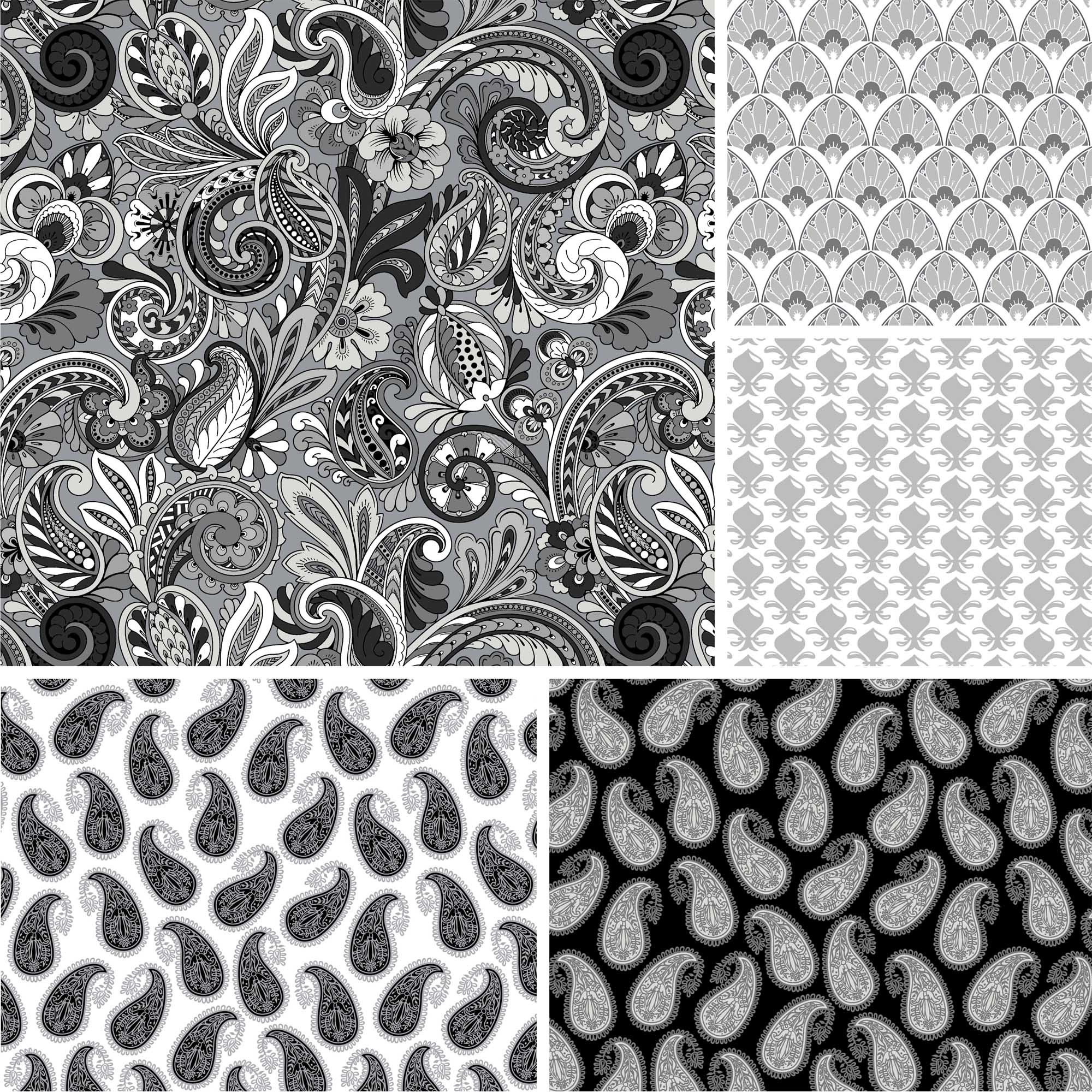 "David Textiles, Inc. Paisley Sorbet Collection 44"" Quilting Cotton Fabric By The Yard"