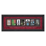 College Letter Framed Wall Art - University of Alabama - 20W x 8H in.