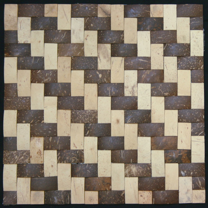 Legion Furniture MS04 Coconut Tile In Cream & Walnut