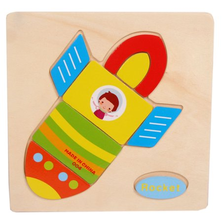 Wooden Rocket Puzzle Educational Developmental Baby Kids Training Toy Burj Al Arab Puzzle
