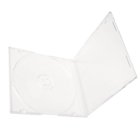 Single Jewel Cases Cd Dvd - 100 Pack Slim 5.2mm Jewel Case Thin Clear Single CD DVD Disc Storage w/Built-in Clear Tray