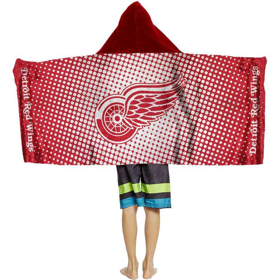 "NHL Detroit Red Wings ""Dots"" Youth Terry Cloth Hooded Wrap Towel"