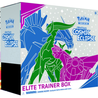 Pokemon TCG: Sun and Moon 12 Cosmic Eclipse Elite Trainer Box- 8 S&M Cosmic Eclipse booster packs   65 card sleeves featuring Arceus & Dialga & Palkia   1 acrylic TAG TEAM GX marker