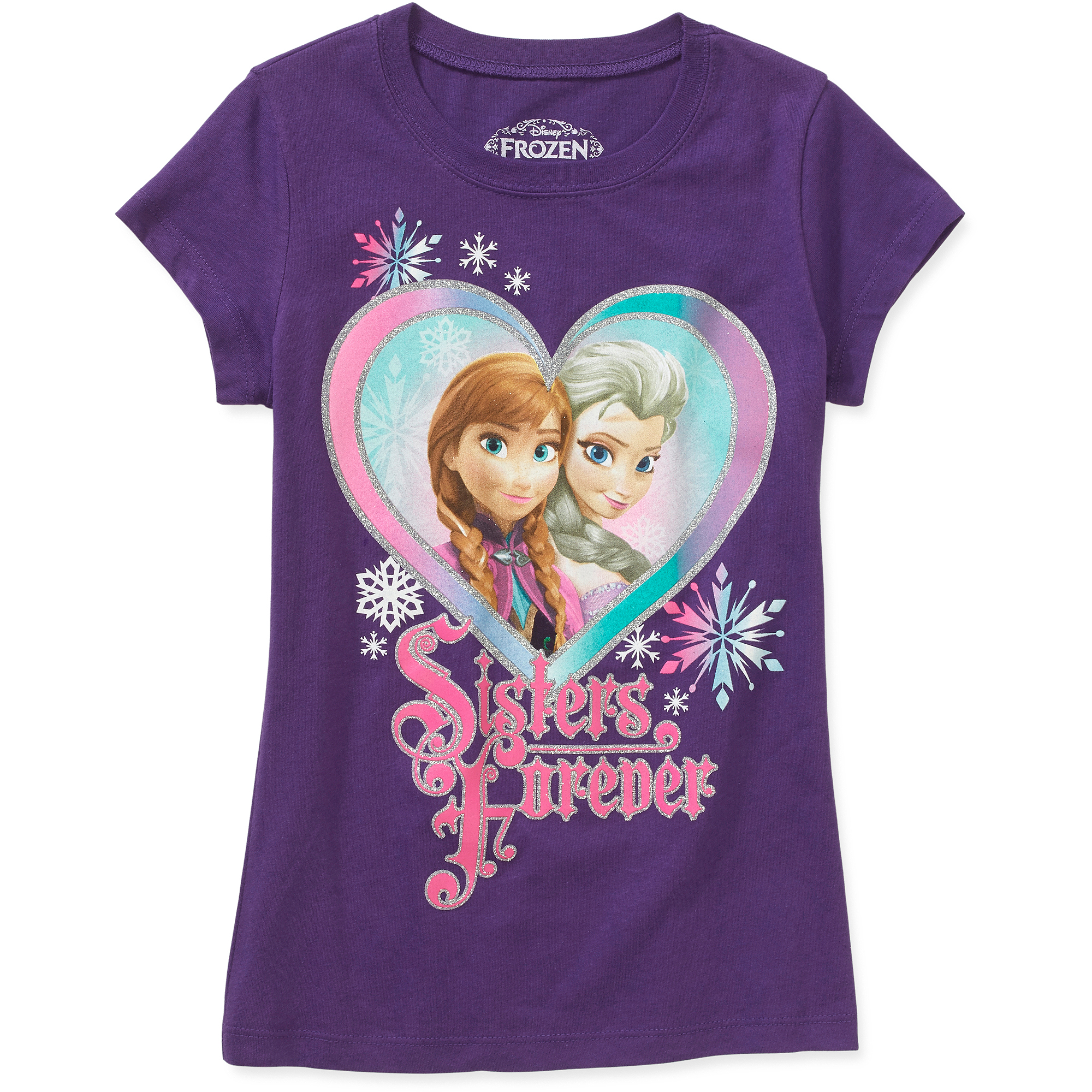 Disney Frozen Sister Heart Girls' Graphic Tee