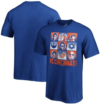 FC Cincinnati Fanatics Branded Youth Star Wars Heroes and Villains T-Shirt - Royal (Fc Youth Home Jersey)