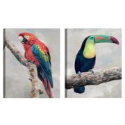 Island Aviary I & II by Studio Arts Set of Canvas Art Prints