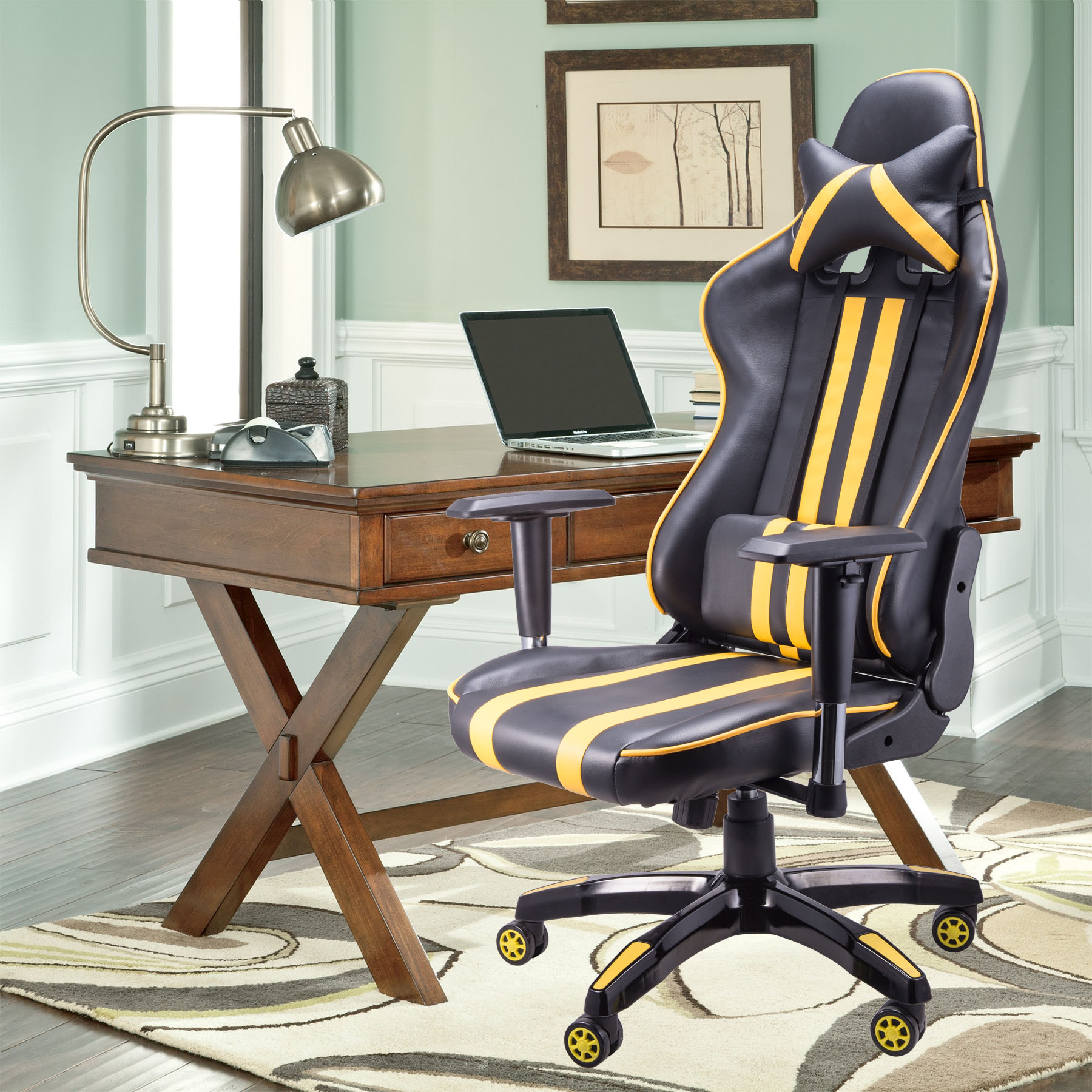 Racing Style Gaming Chair Office Chair Great Comfort & Support High Backrest