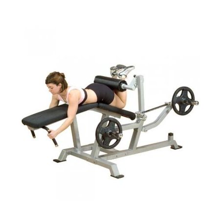 Body Solid Lvlc Leverage Leg Curl Bench With Adjustable Pads Direct Link Movement 11 Gauge Steel