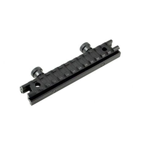 Sniper 13 Slot Riser Rifle Scope Mount, Black