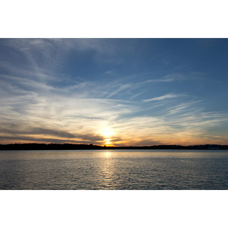 Canvas Print Potomac River Alexandria Water Sunset Scenic Stretched Canvas 10 x 14 ()