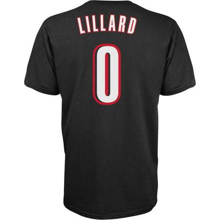 Damian Lillard Portland Trail Blazers Adidas Name And Number T-Shirt (Black) by