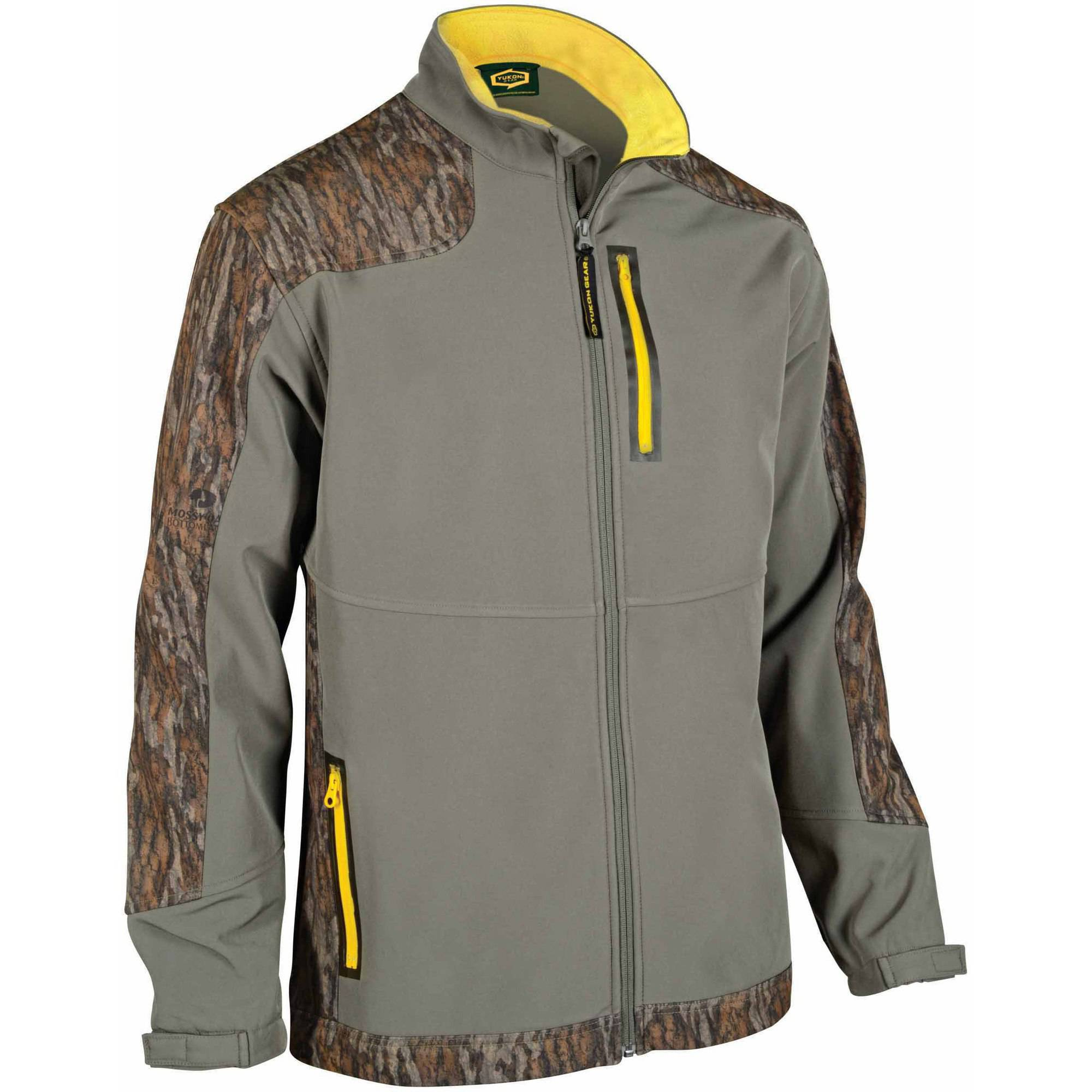 Yukon Gear Lifestyle Men's Softshell Jacket, Mossy Oak Bottomland by Yukon Gear