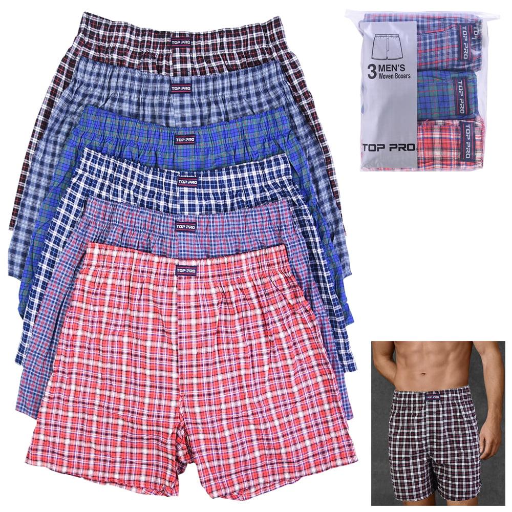 Mens Black Classic boxers shorts underwear cotton S M L XL Plus Size