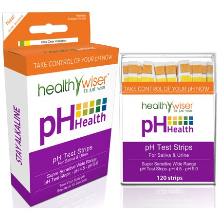 pH Test Strips 120ct, Quick and Accurate Results, Check Your Acidic &