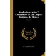 Cuadro Descriptivo Y Comparativo De Las Lenguas Indigenas De Mexico; Volume 1 Hardcover