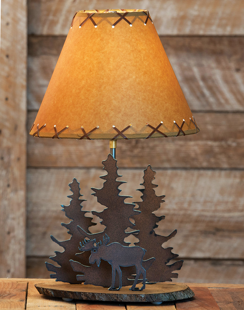 Moose rustic metal lamp cabin lighting fixtures walmart arubaitofo Gallery