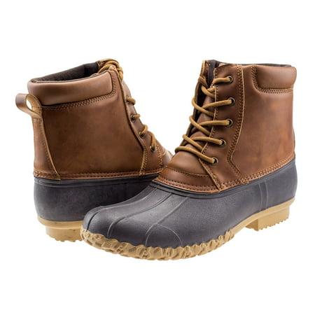 ArcticShield Mens Durable Waterproof Insulated Outdoor Rain Snow Duck Bean Boots (Mens Black Halloween Boots)