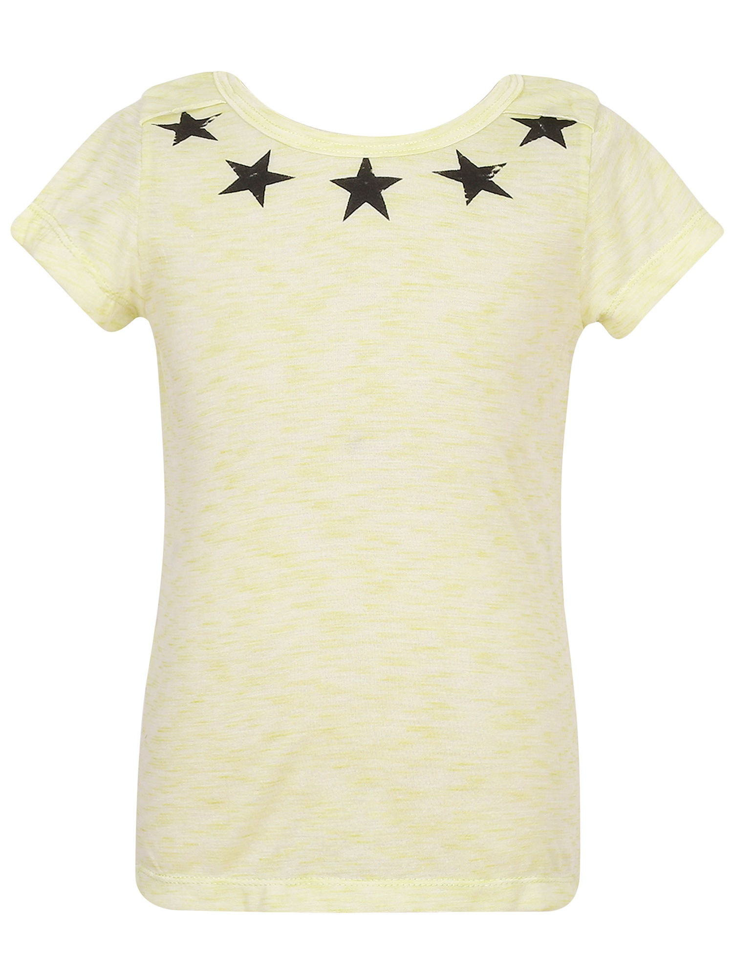 Richie House Girls' Summer Cotton T-shirt with Stars RH2422