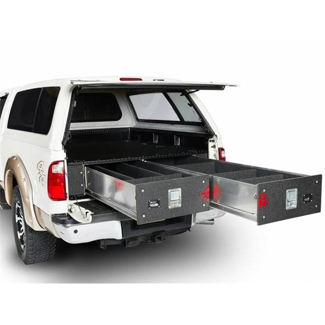 Cargo Ease CGECL7548-D12-2 75 x 48 in. Aluminium Cargo Locker, Max 2 Drawer for 2005 Ford - 2000 lbs
