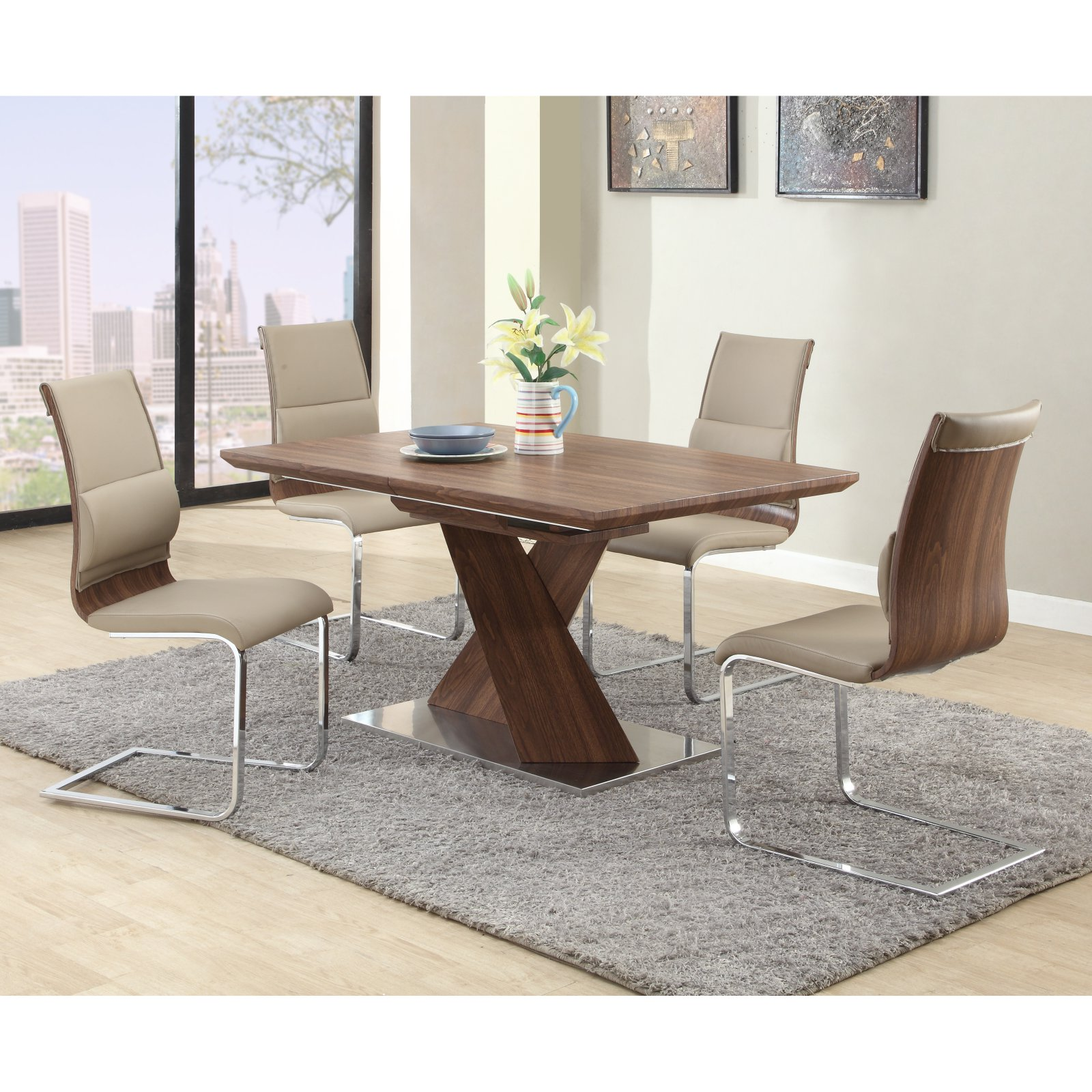 Chintaly Bethany 5 Piece Dining Table Set