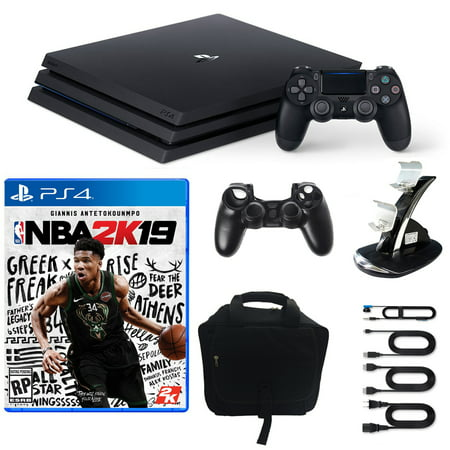 ebc8c55fc PlayStation 4 1TB Pro Console with NBA 2K19 and Bag and Accessories Bundle  - Walmart.com