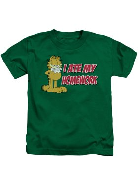 Garfield - I Ate My Homework - Juvenile Short Sleeve Shirt - 7