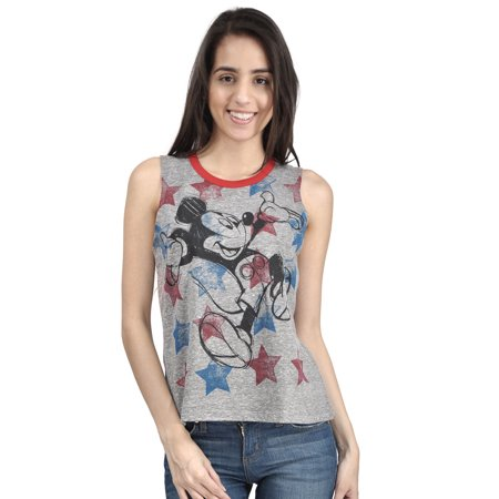 Disney Mickey Mouse Stars Juniors Sleeveless T-shirt for $<!---->