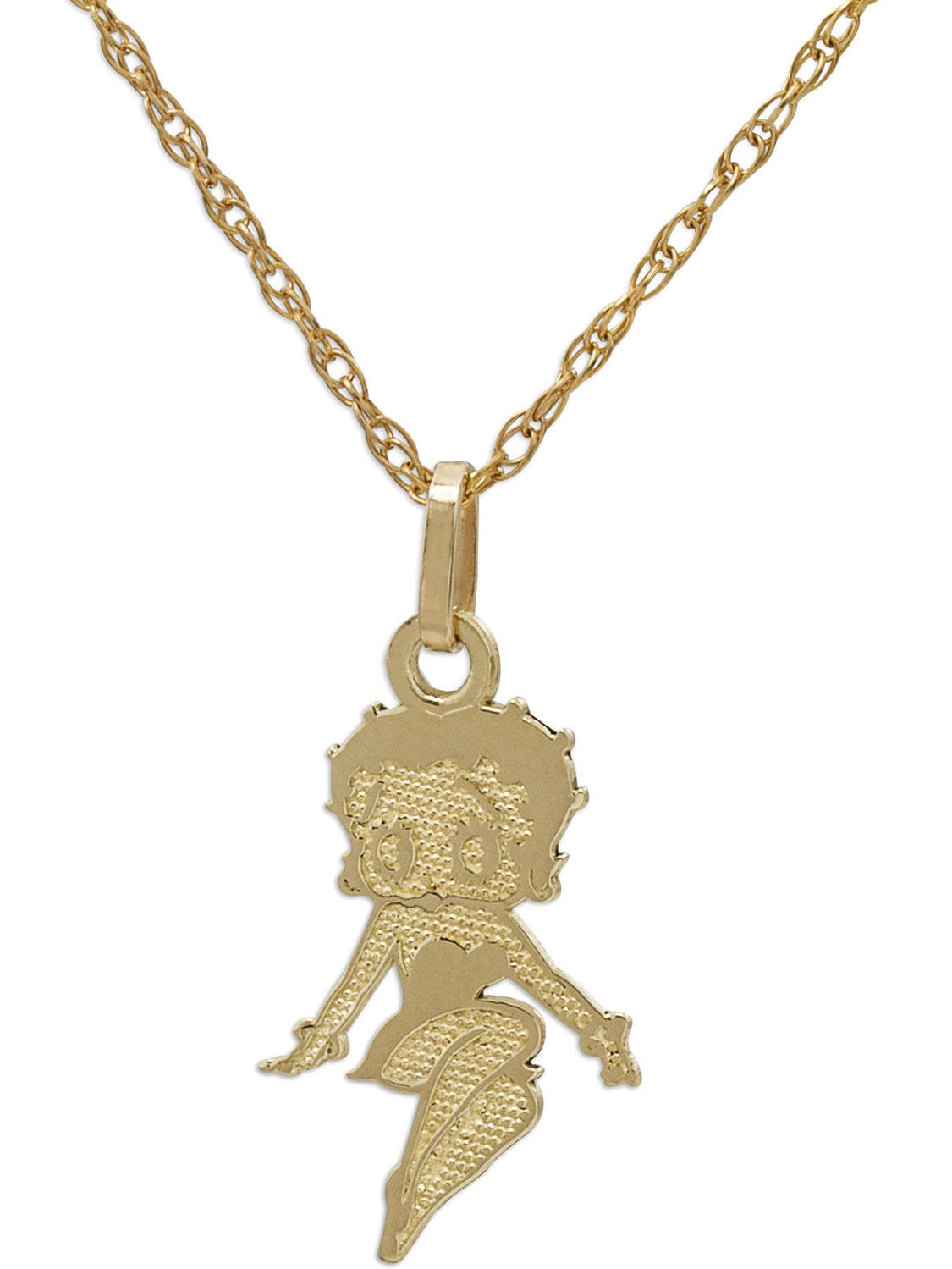 Betty Boop 10kt Yellow Gold Betty Boop Pendant with GoldFilled