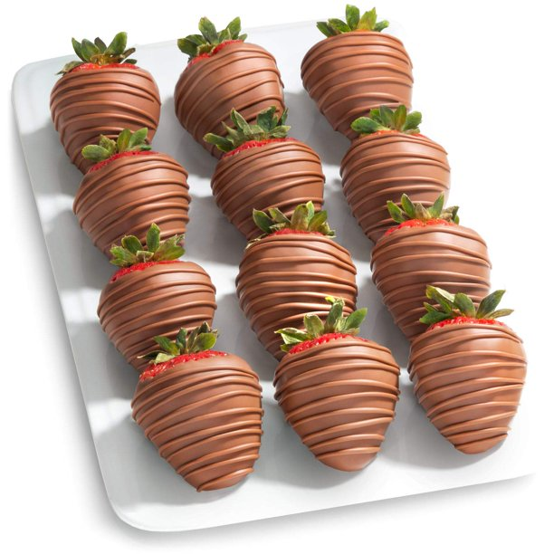 12 Magical Milk Chocolate Covered Strawberries Walmart Com Walmart Com