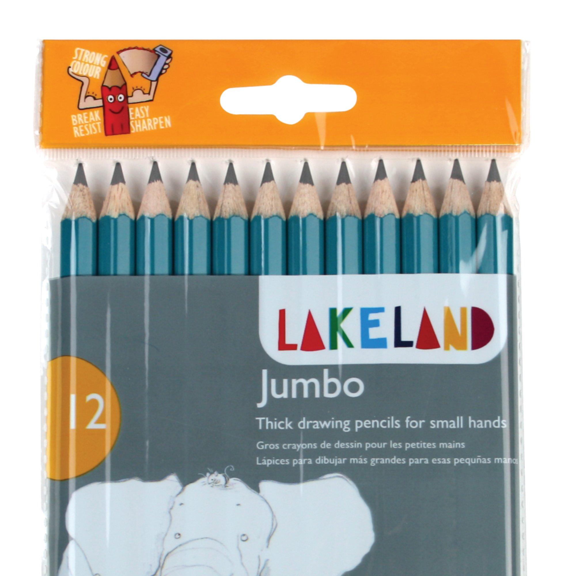 Derwent Lakeland 12 Jumbo Grip Graphite Pencils Set - Derwent