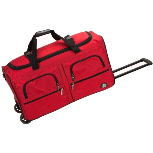 "Rockland Luggage Voyage3 36"" Rolling Duffle Bag, Red by Fox Luggage, Inc"