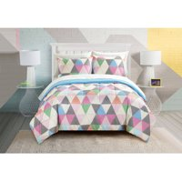 Your Zone Color Triangle Bed in a Bag Bedding Set