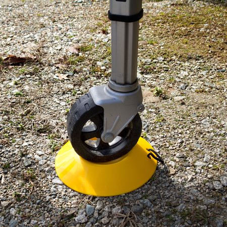Camco Heavy Duty Wheel Dock with Rope Handle - Helps Prevent Trailer Wheel from Sinking Into Dirt or Mud, Easy to Store and Transport -