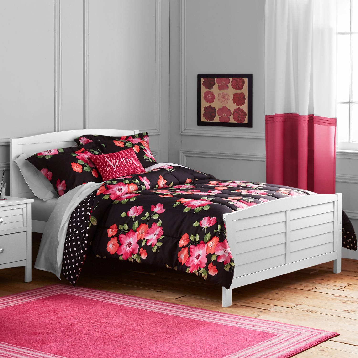 Better Homes and Gardens Kids Size Painterly Floral Comforter Set by Keeco, LLC