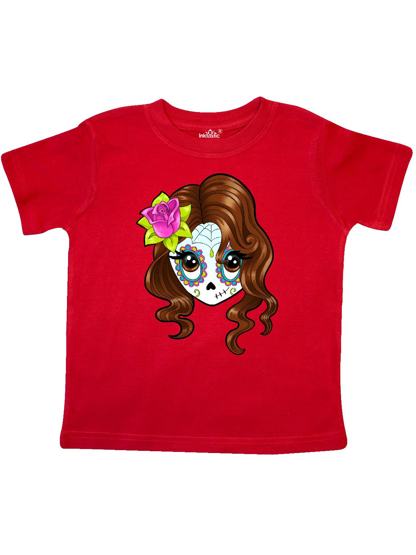Cute Sugar Skull Girl Toddler T-Shirt