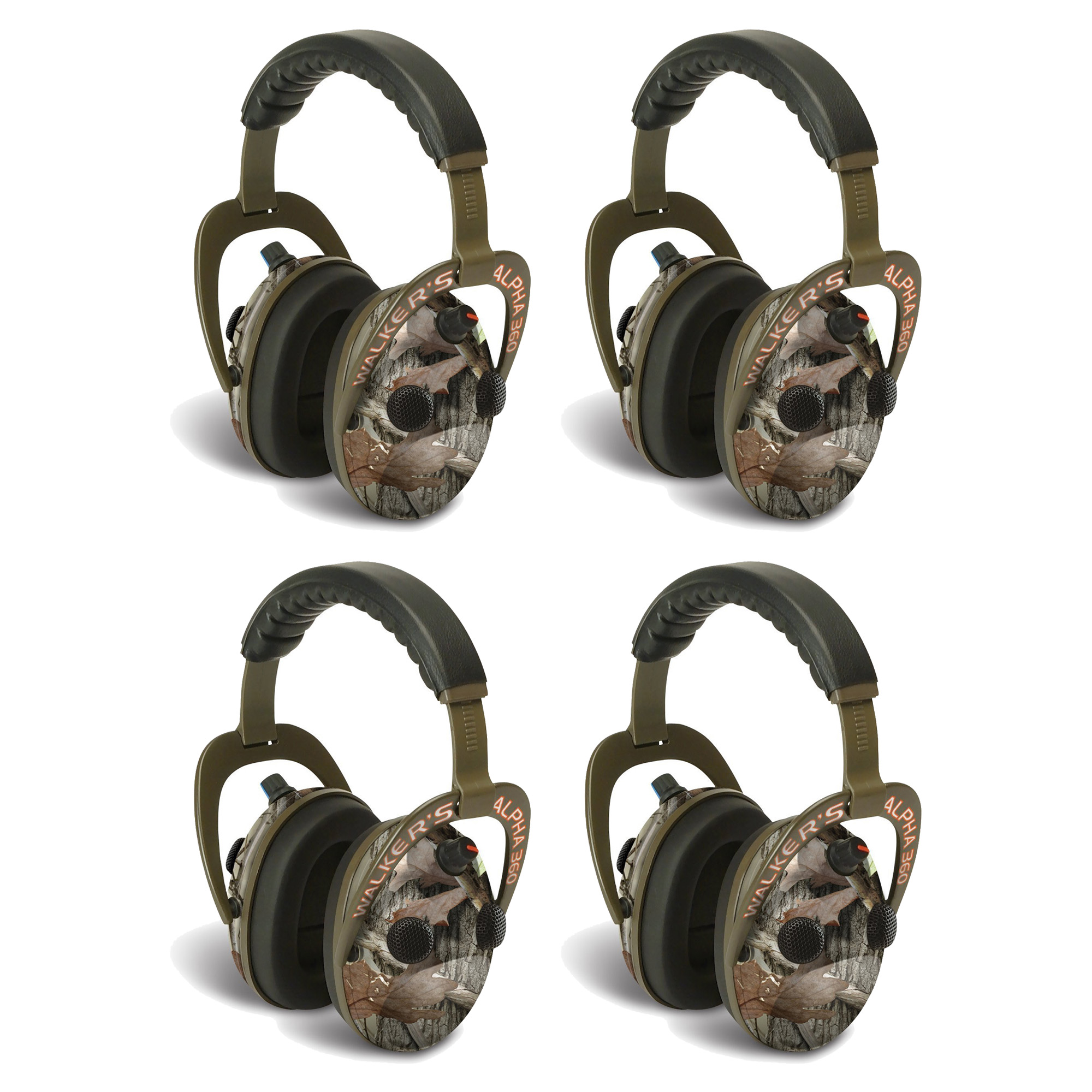 Walkers Alpha Muffs 360 Hunting 9x Hearing Enhancement Ea...