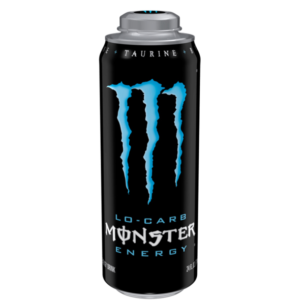 Monster Energy Lo-Carb Energy Drinks 24 oz Cans - Pack of 12