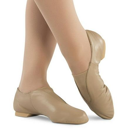 69f521627 Danshuz Little Girls Bella Tan Leather Split Sole Value Jazz Shoes 9-10.5  Toddler