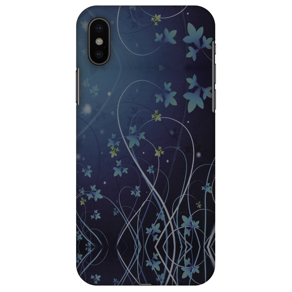 iPhone X Designer Case, Premium Handcrafted Printed Designer Hard ShockProof Case Back Cover for Apple iPhone X - Midnight Lily, Thin, Light Weight, HD Colour, Smooth Finish