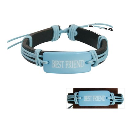 Best Friend Adjustable Bracelet  Light Blue Fashion Jewelry
