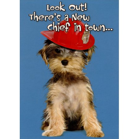 New Puppy Announcements (Designer Greetings Fire Chief Puppy New Dog Congratulations Card)