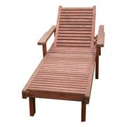 Best Redwood Single Sun Chaise Lounge