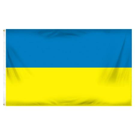 Ukraine National Flag (Ukraine Flag 3ft x 5ft Printed Polyester)