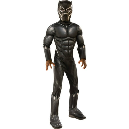 Boy's Deluxe Muscle Black Panther Halloween (Kids Costumes)