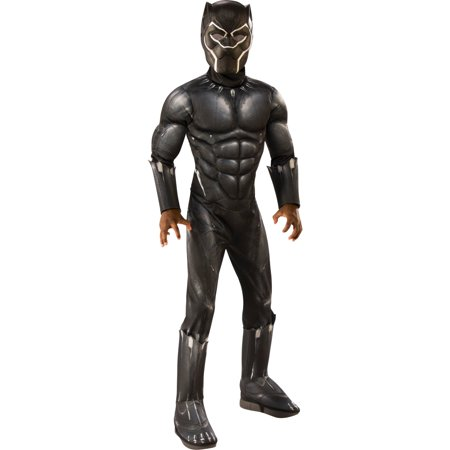Marvel Black Panther Child Deluxe Boys Halloween Costume (Black Bear Halloween Costume Homemade)