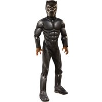 Boy's Deluxe Muscle Black Panther Halloween Costume
