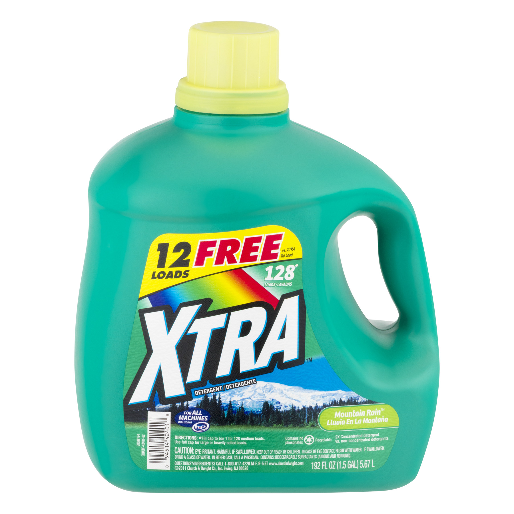 xtra laundry detergent xtra liquid laundry detergent mountain 192oz 28502