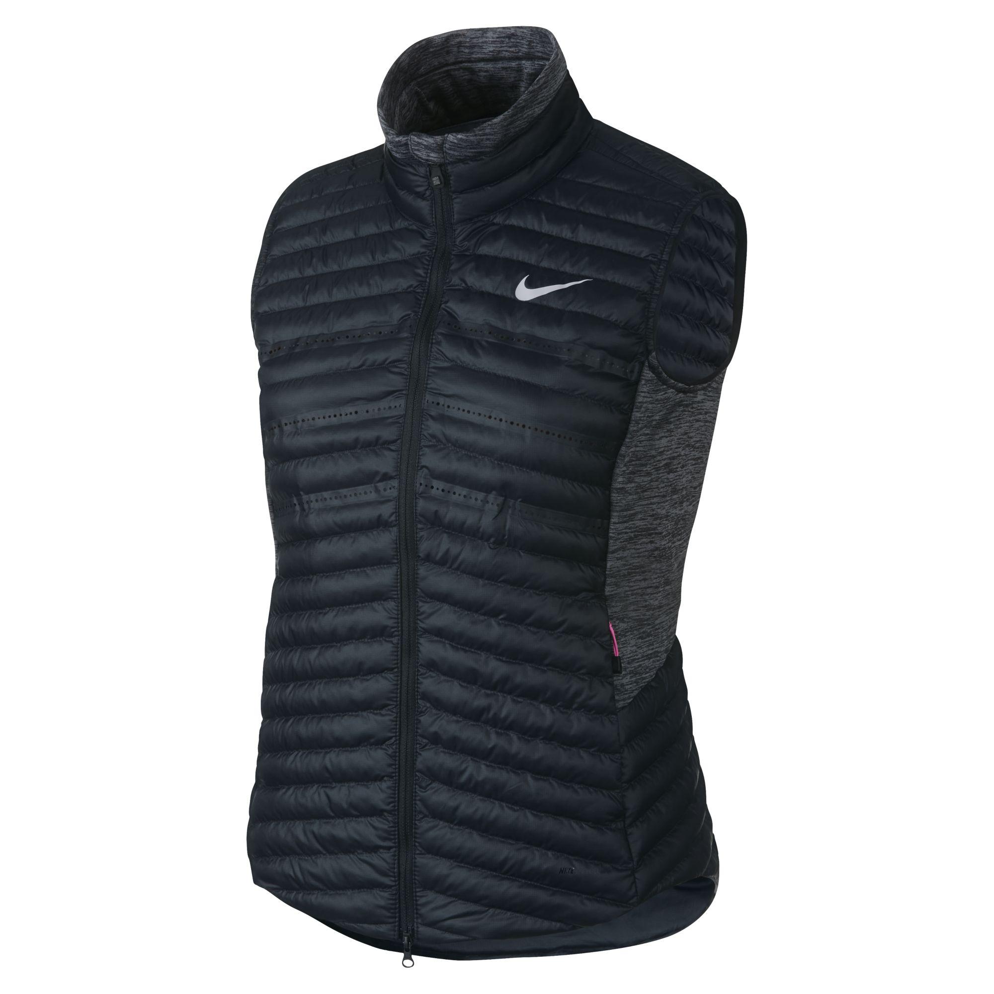 Nike Women's Aeroloft Golf Vest, Black, Large