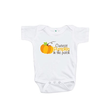 Custom Party Shop Baby Boy's Cutest Pumpkin in the Patch Onepiece - Orange and Brown / 3-6 Month Onepiece - Baby In Pumpkin